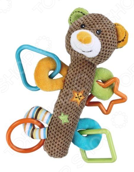 Мягкая игрушка развивающая Жирафики «Мишка с пищалкой» жирафики развивающая игрушка мишка с силиконовым прорезывателем