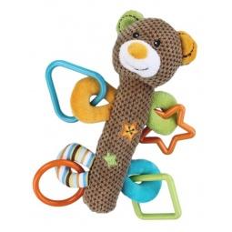 фото Мягкая игрушка развивающая Жирафики «Мишка с пищалкой»