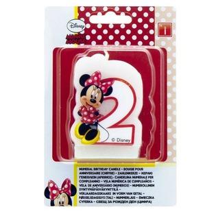 Купить Свеча для праздничного торта Procos Кафе Минни «Цифра 2»