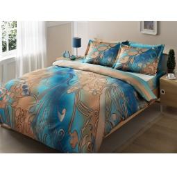 фото Комплект постельного белья TAC Punto. 1,5-спальный. Цвет: голубой