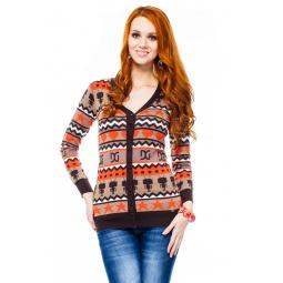 фото Кардиган Mondigo 9876. Цвет: коричневый. Размер одежды: 46