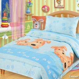 Купить Детский комплект постельного белья Непоседа Собачки