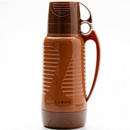 фото Термос и 2 чашки Mayer&Boch Wavy. Объем: 1,8 л. Цвет: коричневый