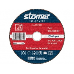 фото Диск отрезной Stomer по металлу. Размер: 150х2,5 мм. Модель: CD-150