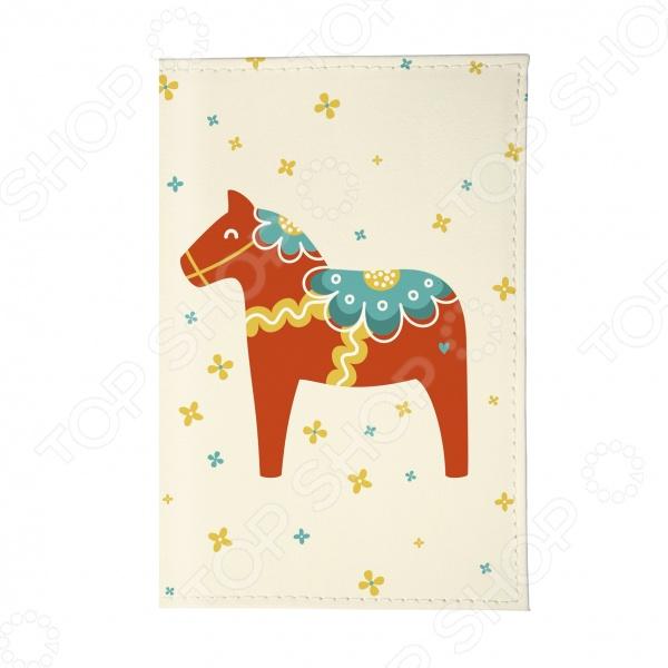 Обложка для паспорта Mitya Veselkov «Скандинавская лошадка» mitya veselkov чехол для iphone 6 скандинавская лошадка