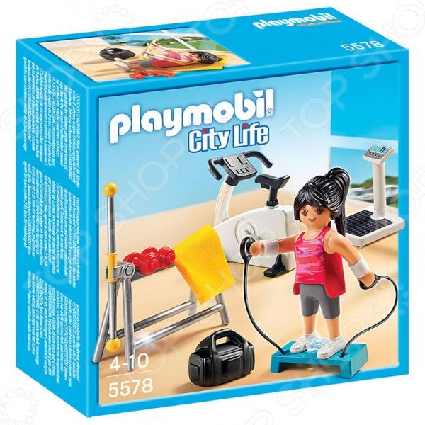 Конструктор игровой Playmobil «Особняки: Комната для фитнеса»Игровые конструкторы<br>Конструктор игровой Playmobil Особняки: Комната для фитнеса - интересный и функциональный конструктор, который позволит развить у ребенка творческий потенциал. Конструктор обладает всеми необходимыми характеристиками, которые должны присутствовать у детских развивающих игрушек. Этот необычный конструктор обязательно понравится вашей девочке. Особыми преимуществами игрового конструктора Playmobil Особняки: Комната для фитнеса являются:  яркие и красочные детали;  безопасные и качественные материалы;  необычная тематика;  функциональность. С помощью этого удивительного конструктора вы вместе со своим ребенком сможете построить современную комнату для фитнеса. Здесь есть все для активных физических тренировок: велотренажер, степпер, гантели и прочие аксессуары. Ребенку будет интересно обустраивать комнату для фитнеса, расставляя тренажеры и дополнительные аксессуары, и разыгрывать увлекательные сценки из реальной жизни. У фигурки подвижные части тела, а в руках она может удерживать различные предметы, например, штангу. С помощью игрового конструктора Playmobil Особняки: Современная ванная комната вы сможете развить у вашего ребенка:  мелкую моторику рук;  фантазию и воображение  пространственное мышление;  коммуникативные навыки.<br>