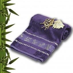 фото Полотенце махровое Mariposa Tropics violet. Размер полотенца: 70х140 см