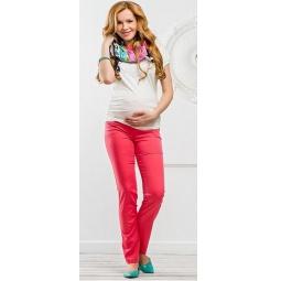 Купить Брюки для беременных Nuova Vita 5422.1. Цвет: коралловый