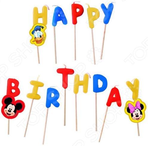 Свечи на торт Procos «Микки Маус Happy Birthday» procos микки маус