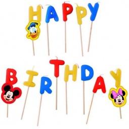 Купить Свечи на торт Procos «Микки Маус Happy Birthday»