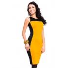 Фото Платье Mondigo 5066. Цвет: ярко-горчичный. Размер одежды: 48