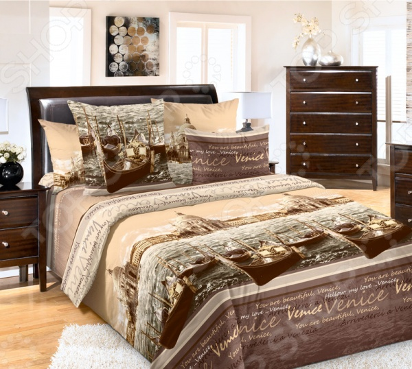 цена Комплект постельного белья Королевское Искушение «Венеция» 1713540 онлайн в 2017 году