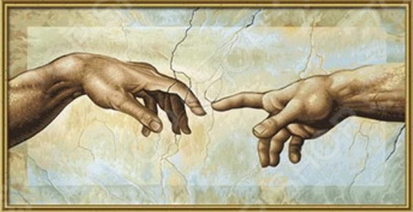 Набор для рисования по номерам Schipper Микеланджело Буонаротти «Сотворение Адама»