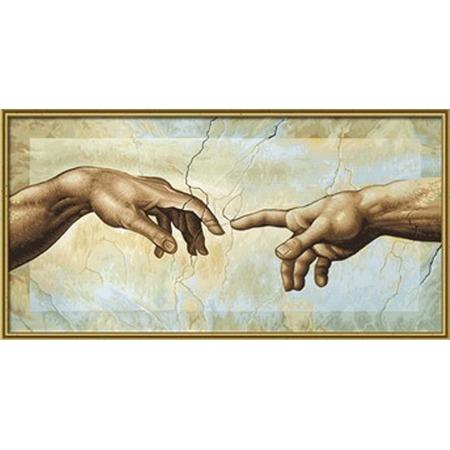 Купить Набор для рисования по номерам Schipper Микеланджело Буонаротти «Сотворение Адама»