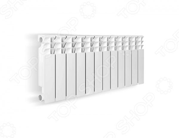 Радиатор отопления биметаллический Oasis 350 80 предназначен для максимального обогрева помещений в холодное время года. Обладает высокой теплоотдачей, быстро реагирует на изменение параметров и подходит для обогрева больших площадей. Радиатор биметаллический предназначен для отопления многоэтажных домов. Он достаточно легкий, поэтому удобен при установке. Сочетание алюминиевого корпуса и стального сердечника позволяет прибору отличаться особой прочностью и долговечностью.  Высокая теплоотдача.  Выдерживает давление до 60 атм ! , что позволяет устанавливать радиатор в многоэтажных зданиях до 40 этажей.  Коррозийная устойчивость стали, рассчитанная на соприкосновение с жесткой водопроводной водой.  Способность обеспечивать быструю передачу тепла воздуху.