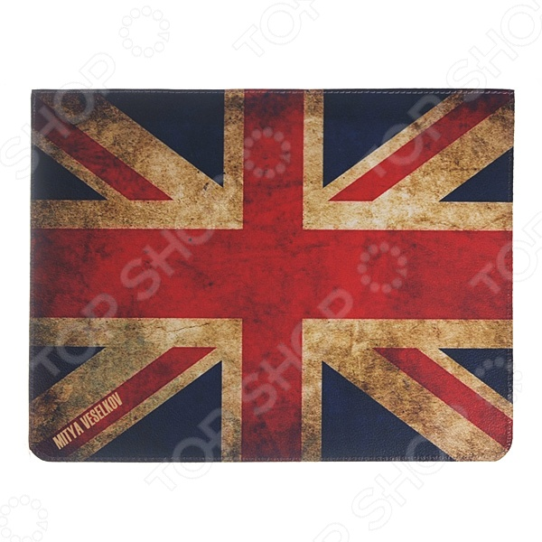 Чехол для iPad Mitya Veselkov «Потертый британский флаг» чехлол для ipad iphone mitya veselkov чехол для ipad райский сад ip 08
