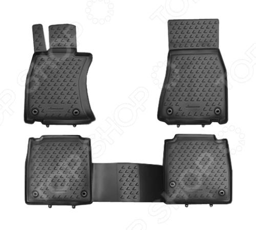 Комплект ковриков в салон автомобиля Novline-Autofamily Lexus LS 460 L 2012Коврики в салон<br>Комплект ковриков в салон автомобиля Novline Autofamily Lexus LS 460 L 2012 поможет обеспечить чистоту и комфортные условия эксплуатации вашего автомобиля. Используйте эти коврики, чтобы защитить оригинальное покрытие пола от грязи, пыли, пятен и воздействия влаги. Изделия созданы из экологически чистого полимерного материала, прошедшего строгий гигиенический контроль. Оцените основные преимущества полиуретановых ковриков Novline:  Нейтральность к агрессивному воздействую различных химических сред.  Высокая устойчивость к значительным перепадам температур в диапазоне от -50 до 50 C .  Устойчивость к воздействию ультрафиолетовых лучей.  Значительно легче резиновых аналогов. Легко очищаются от грязи, обладают повышенной износостойкостью.  Свойства материала и текстура поверхности коврика обеспечивают противоскользящий эффект.  Форма ковриков разработана с учетом особенностей конкретной марки и модели автомобиля применяется технология 3D-сканирования для максимальной точности , что избавляет владельца от необходимости их подгонки под салон своей машины. Коврики надежно фиксируются на своих местах и не смещаются.  Передняя часть водительского ковра имеет специальную форму, исключающую зацепление педали за изделие.<br>