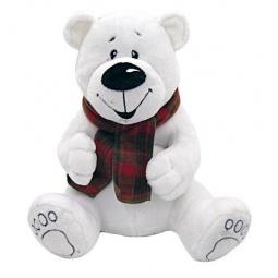 фото Мягкая игрушка Fluffy Family «Мишка белый с шарфом»