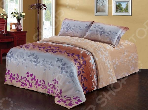 Комплект постельного белья Softline 10353. 2-спальный2-спальные<br>Комплект постельного белья Softline 10353 изготавливается из хлопковой ткани, что гарантирует крепкий сон в максимально комфортных для организма условиях. Рисунки создаются специально для этой линейки белья, что несомненно придаст уникальности любой спальной комнате. Набор станет гармоничной частью интерьера и повседневной жизни, идеально вписавшись в нее. Это постельное белье будет долго радовать хозяев, ведь оно не линяет, не садится и отлично выдерживает большое количество стирок. Кроме того, при изготовлении белья используются устойчивые гипоаллергенные красители, которые будут радовать хозяев своей насыщенностью и добавят оригинальности в повседневную жизнь.<br>