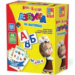 Купить Азбука на магнитах Vladi Toys «Маша и медведь»