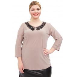 Блуза Лауме-стиль «Заветное признание». Цвет: бежевый