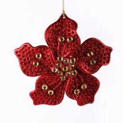 фото Украшение-подвес новогоднее Феникс-Презент 30646 «Цветок со стразами»