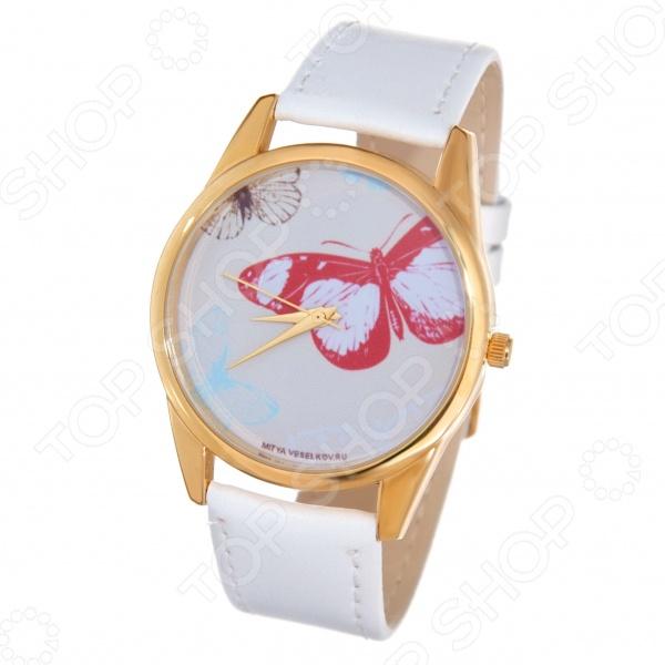 Часы наручные Mitya Veselkov «Цветные бабочки» Shine часы наручные mitya veselkov часы mitya veselkov камасутра силуэт на белом арт shine 20