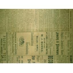 фото Ткань декоративная ScrapBerry's Сатин клеевой «Газета»