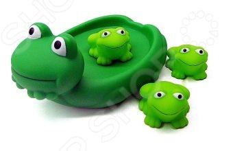 Набор игрушек для ванны Жирафики «Лягушка с лягушатами» игрушки для ванны жирафики набор для купания черепашка и пингвин
