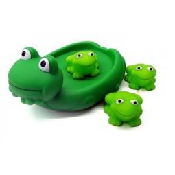 фото Набор игрушек для ванны Жирафики «Лягушка с лягушатами»