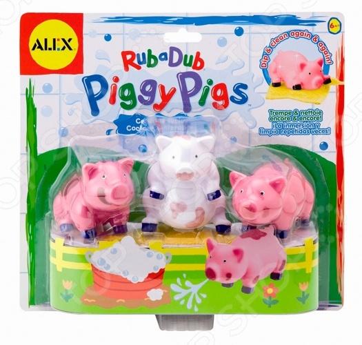 Игровой набор для ванной Alex «Вымой поросенка» игрушки для ванной alex набор игровой для ванны вымой щенка