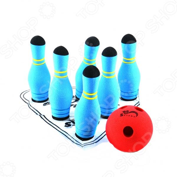 Мини-боулинг в сумке Игра Safsof «Мини-боулинг» 6 кеглей в сумке. В ассортименте