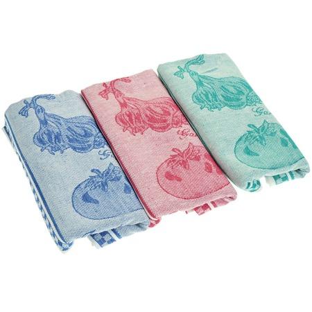 Купить Комплект из 3-х полотенец подарочный BONITA «Помидор, базилик, чеснок»