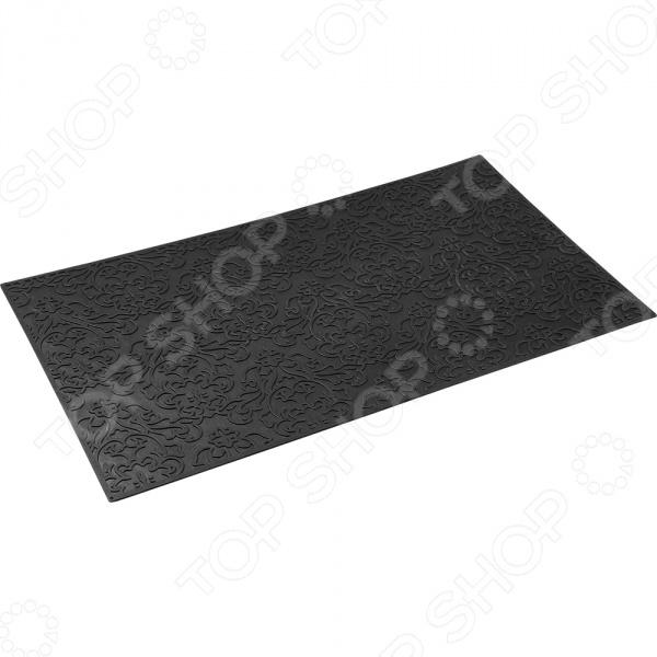 Коврик придверный Vortex «Узор»Дверные коврики<br>Коврик придверный Vortex Узор это надежный придверный коврик, который подойдет для использования как внутри помещения, так и снаружи. Коврик подойдет для использования и в летний период под палящим солнцем, и в зимние морозы. Плотный материал задерживает грязь, после чего изделие легко стряхнуть или промыть под водой. Прорезиненная основа предотвращает скольжение по гладкой поверхности, вы можете не переживать, что из-за неловкого движения коврик может уехать в сторону, а вы потеряете равновесие.<br>