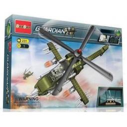 фото Конструктор Banbao Военный вертолет, 231 деталь