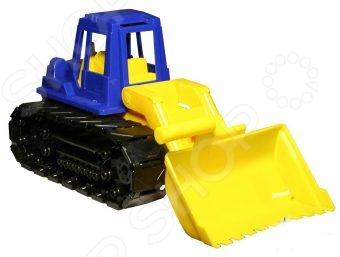 купить Машинка игрушечная Нордпласт «Трактор Байкал с грейдером» по цене 386 рублей
