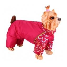 Купить Комбинезон-дождевик для собак DEZZIE «Американский кокер». Цвет: красный