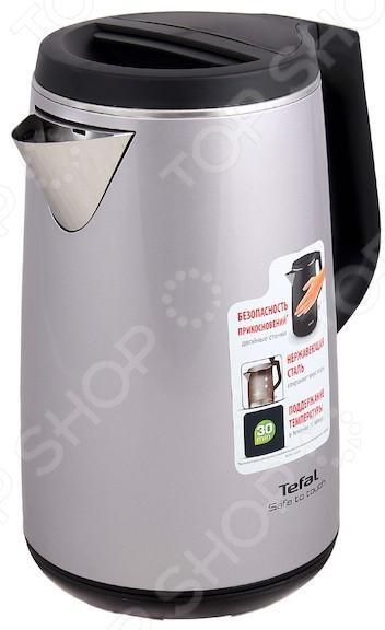 Чайник Tefal KO 371 H30Чайники электрические<br>Удобный и простой в использовании чайник Tefal KO 371 H30 изготовлен из прочного термостойкого пластика. Внутренние стенки выполнены из нержавеющей стали, что придает модели долговечности и гигиеничности. Внешние стенки корпуса не нагреваются, что гарантирует защиту от ожогов при случайном прикосновении к прибору во время работы, а также создает эффект термоса поддержание температуры до 30 минут . Благодаря мощности в 2400 Вт и нагревательному элементу скрытого типа, чайник быстро вскипятит воду объемом до 1,7 литра. Чайник Scarlett SC-EK21S08 оснащен индикатором включения выключения и фильтром для очистки от накипи. Цоколь с центральным контактом позволяет поворачивать прибор на 360 . Кабель удобно сворачивать и хранить в подставке. Для вашей безопасности предусмотрены функции автоматического отключения и блокировки включения без воды. Благодаря стильному дизайну, чайник Tefal KO 371 H30 впишется в любую современную кухню.<br>