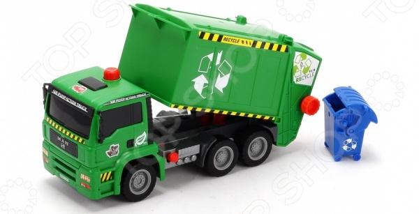 Машинка игрушечная Dickie «Мусоровоз с контейнером» AirPump машинка игрушечная dickie самосвал man airpump