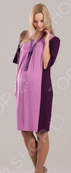 Платье для беременных Nuova Vita 2143.. Цвет: сиреневый