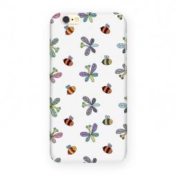 фото Чехол для iPhone 6 Mitya Veselkov «Стрекозы и пчелы». Цвет: белый