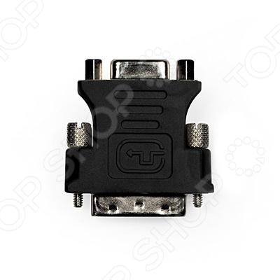 Адаптер-переходник Prolink DVI-VGA (M-F)Кабели, провода<br>Адаптер-переходник Prolink DVI-VGA M-F предназначен для комфортного подключения VGA дисплей к PC или видео карте с DVI-I выходом. Устройство обеспечивает надежное подключение за счет использования высококачественных материалов. Корпус выполнен из прочного и качественного пластика. Проводником выступает бескислородная медь высокой проводимости. Термопластичные коннекторы Elastomer гарантируют долговечность адаптера.<br>