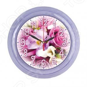 Часы настенные Вега «Букет роз»Часы настенные<br>Часы настенные Вега Букет роз - популярный элемент в оформлении интерьера. Представить свою жизнь без часов - невозможно, особенно в современном мире, где на счету каждая минута, поэтому настенные часы станут не только красивым но и полезным украшением. Настенные часы помогут подчеркнуть индивидуальность вашего интерьера, а так же подскажут точное время. Питание от 1 батарейки типа АА не входит в комплект .<br>