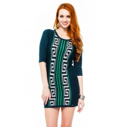 фото Платье Mondigo 9872. Цвет: темно-зеленый. Размер одежды: 46