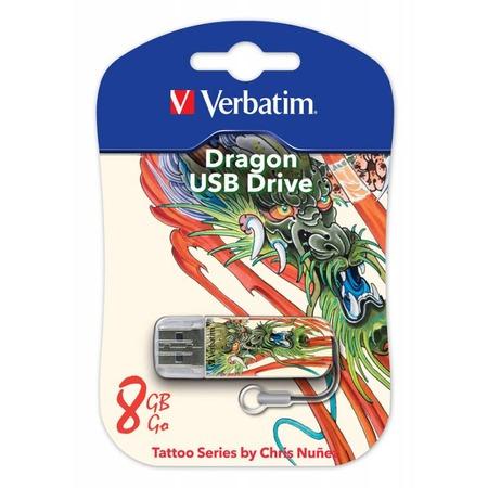 Купить Флешка Verbatim Store 'n' Go Mini Tattoo Dragon 8Gb