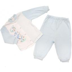 Купить Пижама IDEA KIDS «Весёлые полосатики». Цвет: голубой