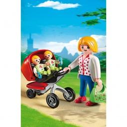 фото Конструктор игровой Playmobil «Детский сад: Мама с близнецами в коляске»