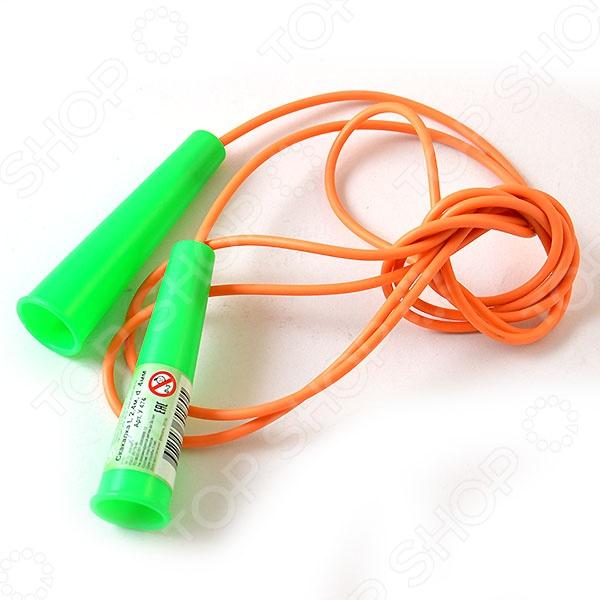 СкакалкаСкакалки<br>Товар продается в ассортименте. Цвет изделия при комплектации заказа зависит от наличия цветового ассортимента товара на складе. Скакалка с цветными ручками выполнена из высококачественного ПВХ и резины. Регулярные занятия со скакалкой укрепляют мышцы рук, ног.<br>