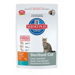 фото Корм сухой для стерилизованных кошек Hill's Science Plan Sterilised Young Adult с тунцом. Вес упаковки: 3,5 кг