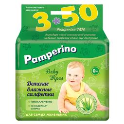 фото Влажные салфетки для детей Pamperino Trio